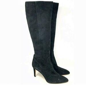 Sam Edelman Heeled Black Suede Boots 9.5